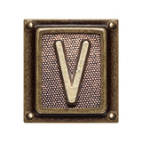 Metal Button Alphabet Letter V Prints by  donatas1205
