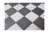 Black And White Tiled Floor Prints by  landio