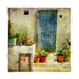 Pictorial Greek Villages Premium Giclee Print by  Maugli-l