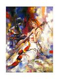 The Girl Plays A Violoncello Plakaty autor balaikin2009