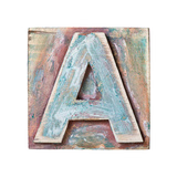 Wooden Alphabet Block, Letter A Prints by  donatas1205