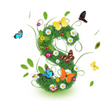 "Beautiful Spring Letter ""S"" Posters by  Kesu01"