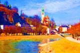 Salzach River. Salzburg, Austria Prints by  alkir