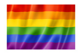 Rainbow Gay Pride Flag Prints by  daboost