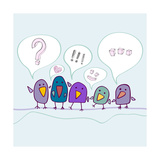 Cartoon Birds Talking 高画質プリント :  Katyau