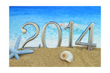 New Year 2014 On The Beach Posters by  viperagp