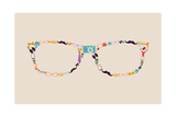 Vintage Hipsters Icons Glasses Art by  cienpies