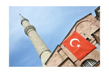 Mosque With Turkish Flag Posters by  matejh