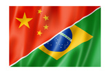 China And Brazil Flag Posters by  daboost