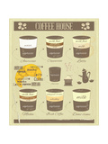 Coffee House Old Infographics Posters av  elfivetrov
