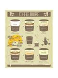 Coffee House Old Infographics Kunstdrucke von  elfivetrov