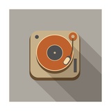Retro Record Player Icons Posters by  YasnaTen