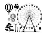 Amusement Park Elements Art by  dmstudio