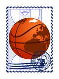Postage Stamp. Basketball Prints by  GUARDING-OWO