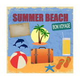 Summer Beach Poster In Retro Style Posters by  radubalint