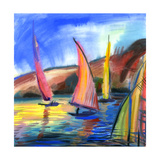 Sailing Boats In The Sea Prints by  balaikin2009