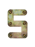 Old Metal Alphabet Letter S Art by  donatas1205