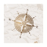 Vintage Paper With Compass Rose Posters by  vso