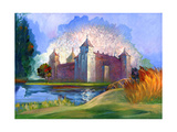 Ancient Castle On The Bank Of Lake Poster by  balaikin2009