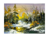 The Wood River In The Winter Prints by  balaikin2009