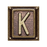 Metal Button Alphabet Letter K Posters by  donatas1205