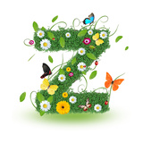 "Beautiful Spring Letter ""Z"" Print by  Kesu01"
