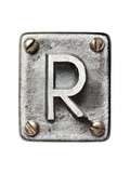 Old Metal Alphabet Letter R Prints by  donatas1205