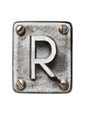 Old Metal Alphabet Letter R Affischer av  donatas1205