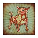Grunge Zodiac - Taurus Prints by  krasstin