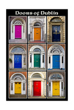 The Old Georgian Doors Of Dublin Lámina por Domenico Matteo