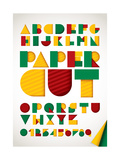 Colorful Paper Alphabet Prints by kakin mah