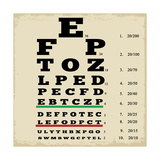 Vintage Style Eye Chart Posters by  radubalint