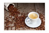 Coffee Cup With Beans Prints by  Valengilda
