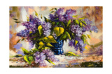 Lilac Bouquet In A Vase Prints by  balaikin2009