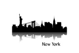 Silhouette Of New York Prints by Alexandra Gl