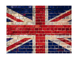 Uk Flag On A Brick Wall Background Prints by  Steve18