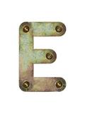 Old Metal Alphabet Letter E Kunstdrucke von  donatas1205