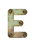 Old Metal Alphabet Letter E Prints by  donatas1205