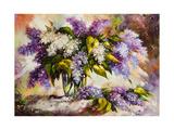 Lilac Bouquet In A Vase Prints by  balaikin2009