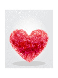 Red Heart Geometric Shape Plakater af cienpies
