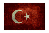National Flag Of Turkey Posters by Bruce stanfield
