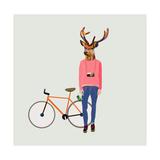 Fashionable Hipster Deer Plakater af  run4it