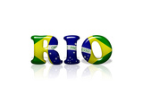 Rio In Brazil Flag Colors Prints by  karenroach