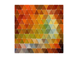 Colorful Triangles Background Prints by Maksim Krasnov
