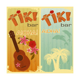 Two Cards For Tiki Bars Prints by  elfivetrov
