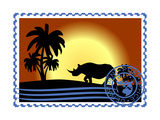 Postage Stamp. Savannah Posters by  GUARDING-OWO