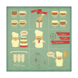 Cover Menu For Bakery Premium Giclee Print by  elfivetrov