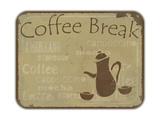 Grunge Card Coffee Break Prints by  elfivetrov