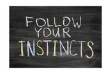 Follow Your Instincts Prints by Yury Zap