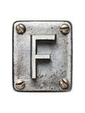 Old Metal Alphabet Letter F Posters par  donatas1205